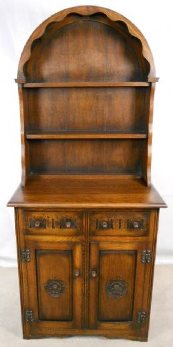 Dresser Antique Jacobean Style Small Oak Welsh Cupboard Dresser